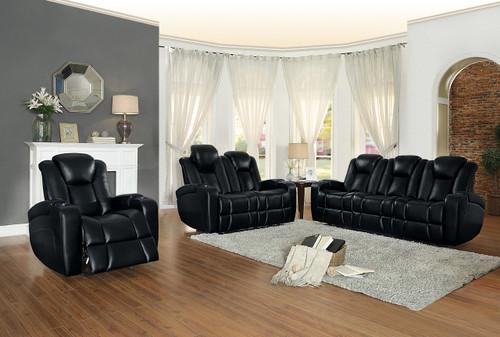 Homelegance Madoc Collection Living Room Set in Black