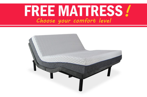 iDealBed Custom Comfort Adjustable Bed Base with FREE Mattress!