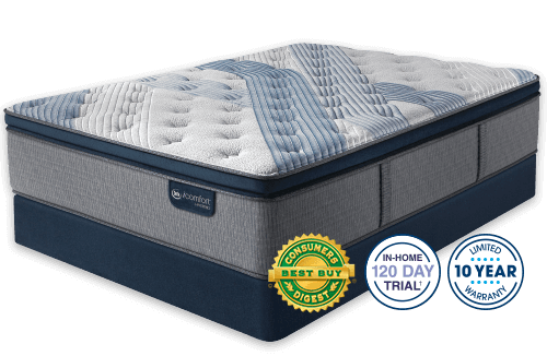 Serta iComfort Hybrid Blue Fusion 1000 Plush Pillow Top Mattress