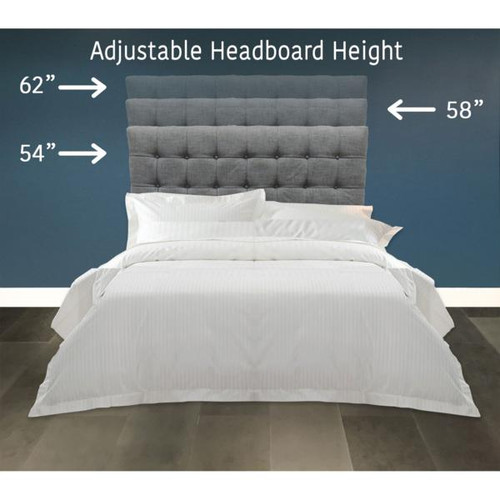 cec6d0c916aa Fashion Bed Group Strasbourg Charcoal Headboard - DealBeds.com