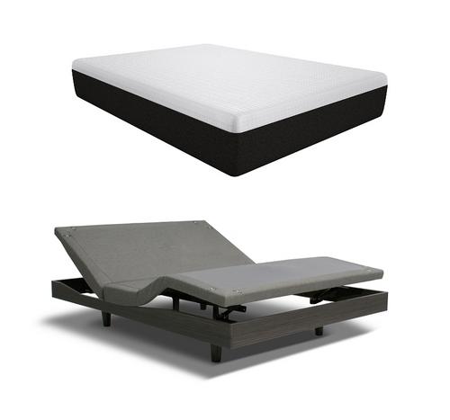 """Reverie 7T Adjustable Bed Base + 10"""" Gel Memory Foam Mattress - King Size"""