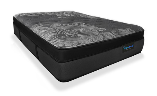 iDealBed Luxe Series Hybrid iQ7 Ultimate Luxury Pillow Top Mattress Corner View