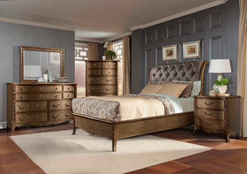 Homelegance Chambord Collection Bedroom Set Champagne Gold