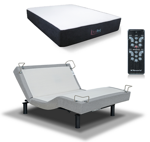 IDealBed I6 Sapphire Luxury Hybrid Doubled-Sided Mattress With Reverie 5D Adjustable Bed Foundation