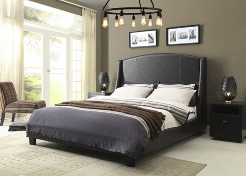 Fashion Bed Group Beverly Upholstered Platform Bed in Sable