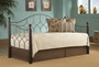Fashion Bed Group Bianca Daybed in Hammered Pewter/Espresso with Link Spring