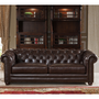 J Graham Parker Genuine Top Grain Leather Chesterfield Sofa