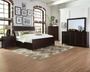 Donny Osmond Lanchester Collection 4 Piece Bedroom Set in Acacia Cocoa