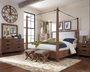 Donny Osmond Madeleine Collection 4 Piece Bedroom Set in Smoky Acacia