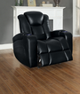 Homelegance Madoc Collection Recliner in Black
