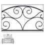 Fashion Bed Group Doral Panel Bed headboard grill