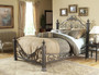 Fashion Bed Group Baroque Metal Bed in Gilded Slate