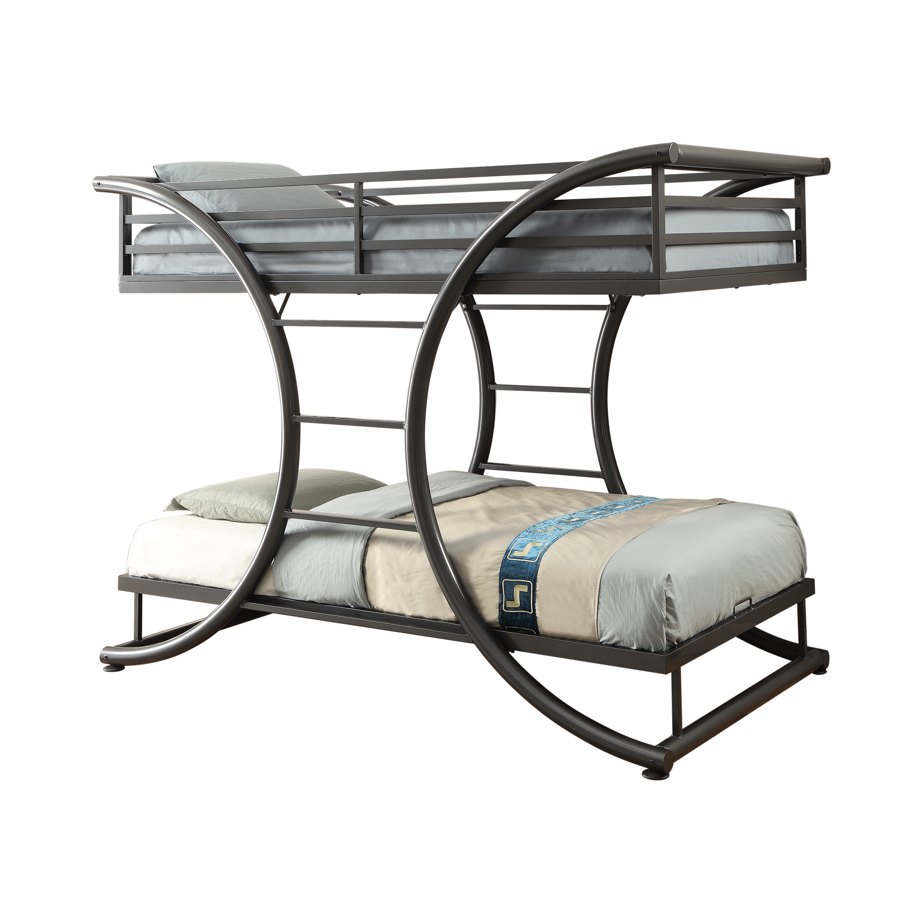 Coaster Stephan Twin Contemporary Bunk Bed In Gunmetal Dealbeds Com