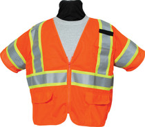 SECO 8390 Economy Safety Vest - Flo Orange or Flo Yellow