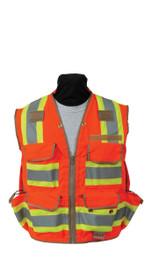 SECO 8265 Class 2 Safety Utility Vest - Flo Orange or Flo Yellow