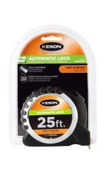 Keson Pocket Tape PG181025AL 25 ft 10ts & 100ths, In. & Ft.
