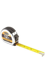 Keson PG181012 Measuring Tape, 5/8 in x 12 ft, Chrome