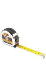 Keson PG181012 Measuring Tape, 5/8 in x 12 ft, Chrome