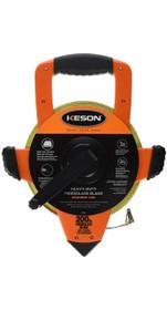 Keson Steel Open Reel Tape Measure 200 ft ABS Housing Speed Rewind Metal Gearing