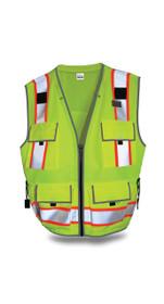 SITEPRO Surveyor's Safety Vest Lime, CLASS 2 23-750-FL