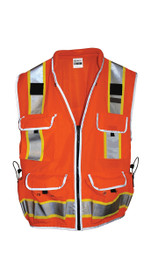 SITEPRO Surveyors Safety Vest Orange, Class 2 23-750-FO