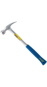 Estwing Framing Hammer - 30 oz Long Handle Straight Rip Claw with Smooth Face & Shock Reduction Grip - E3-30S