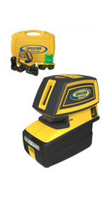 Spectra Precision LT52G 5-Point and 2-Cross Green Beam Line Laser Level