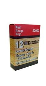Red Dixon Lumber Crayons Dz/Bx