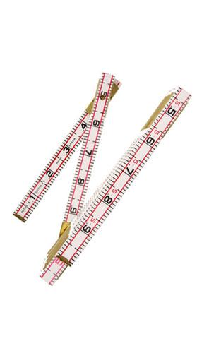 """HI-VIZ 6' x 5/8"""" Engineer's Scale Wood Rule Red End"""