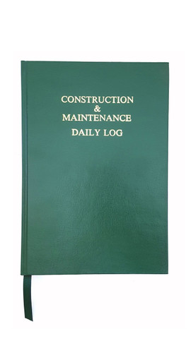 Construction & Maintenance Daily Log Book 0011-01