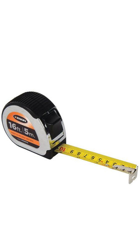 Keson - PG18M16 - Tape Measure, 1 Inx16 ft/5m, Chrome/Black