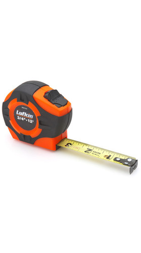 "HI-VIZ Engineer's Pocket Tape 3/4""x12' in 10ths & 100ths / Feet & Inches"