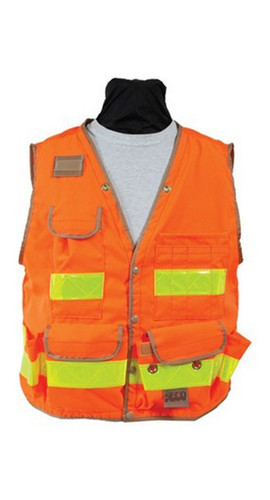 Seco 8069-Series Class 2 Surveyors Utility Vest with Mesh Back