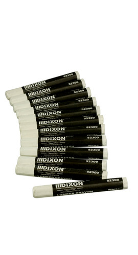 White Dixon Lumber Crayons (Box of 12)