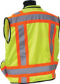SECO 8265 Class 2 Safety Utility Vest - Flo Orange or Flo Yellow