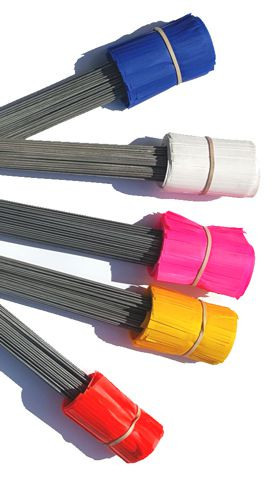 Presco Solid Color Marking Flags Wire Pin Stake 100 Per