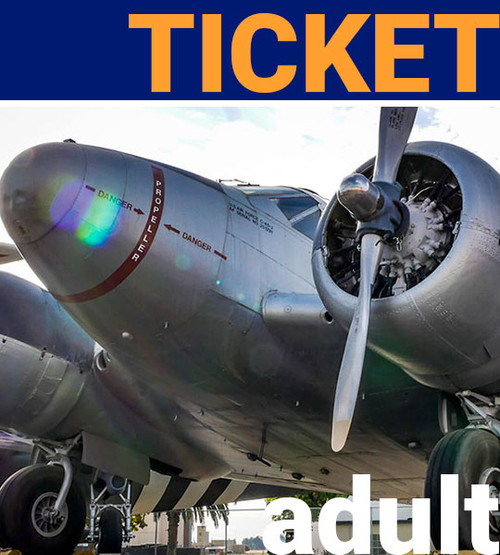 adult admission ticket to aerospace museum of california