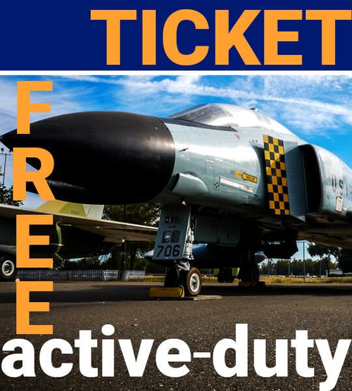 active duty admission ticket free to aerospace museum of california