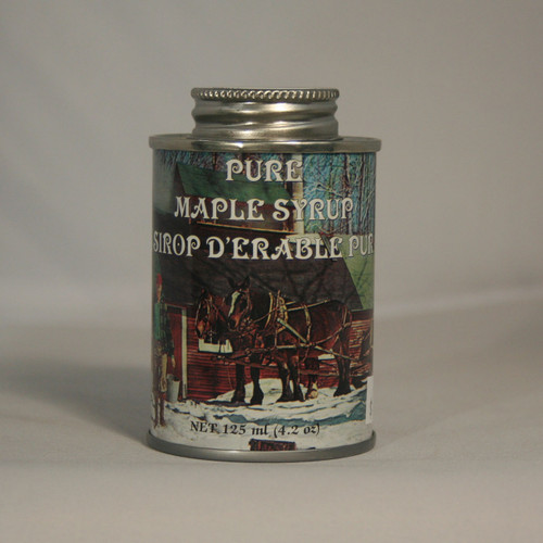 4 oz Decorative Tin of Pure Maple Syrup