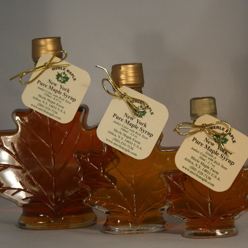 Group of Glass Maple Leaves