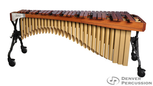 Adams MAHA50/9T3  5.0 Octave Alpha Series Rosewood Marimba, Walnut Rails, Satin Gold Resonators
