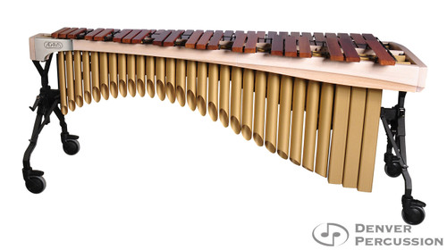 Adams MAHA50/9W3  5.0 Octave Alpha Series Rosewood Marimba, Whitewash Rails, Satin Gold Resonators