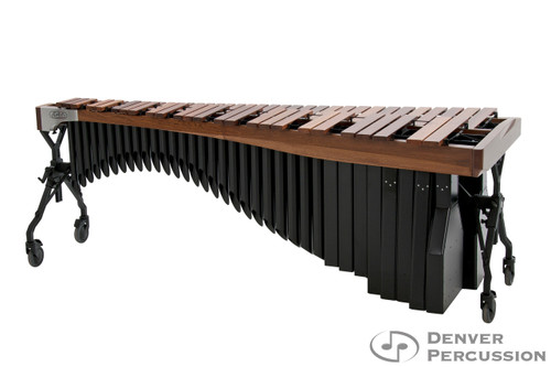 Adams MAHA43/9T1  4.3 Octave Alpha Series Rosewood Marimba, Walnut Rails, Black Resonators