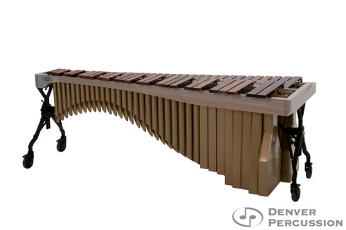 Adams MAHA43/9W3  4.3 Octave Alpha Series Rosewood Marimba, Whitewash Rails, Satin Gold Resonators