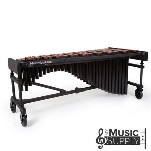 "Marimba One 9623 WAVE Marimba 4.3 Octave, Classic Resonators, Premium Keyboard, 4"" Casters"