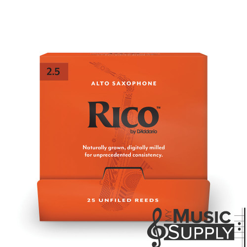 Rico Alto Saxophone Reeds, #2.5 (RJA0125),  Individually Packaged Reeds