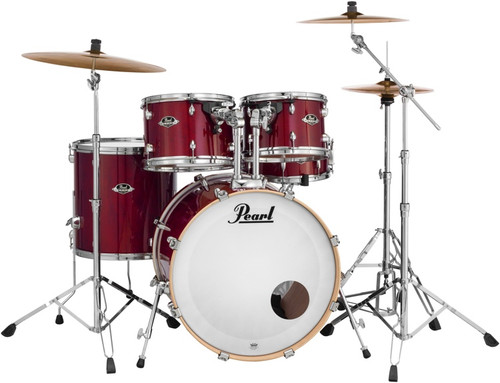 Black Friday Pearl Export Complete Kit w/Hardware, Cymbals, and Throne!