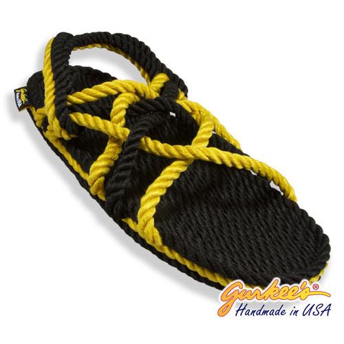 Signature Neptune Black & Gold Rope Sandals