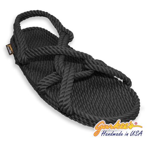 Classic Barbados Black Rope Sandals