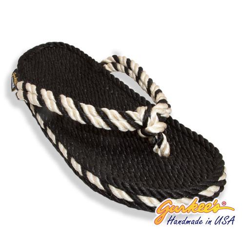 Signature Tobago Black & Natural Rope Sandals